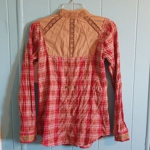 Free People Tops - Free People Plaid Button Down Shirt